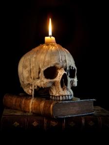 152139090-Skull on books