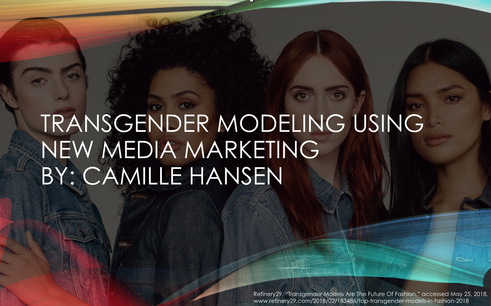 Social Media Marketing for Transgender Fashion Models: Part One: Abstract